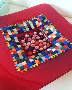 handmade mozaiekglasmozaiek schaal  mozaiek schaal