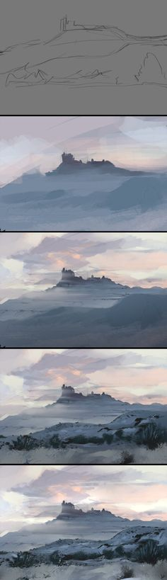 Process for… aarongriffinart.deviantart.com… 35 mins colour study. Photoshop CS6 and Wacom 22HD