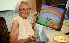 New work space fosters creativity at Good Samaritan Society - Lake Forest Village. Check out more works of art from our residents. Senior Activities, Fun Activities, Good Samaritan Society, Forest Village, Crafts For Seniors, Lake Forest, Senior Living, New Work, The Fosters