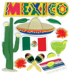Mexico Stickers - Jolee's Boutique By EK Success