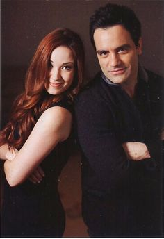 Sierra Boggess-Christine Daae-and Ramin Karimloo-the Phantom of the Opera. They starred in the 25th Anniversary Phantom of the Opera, alongside the brilliant Hadley Fraiser as Raoul. (I feel like a movie critic. I wrote that all :P)