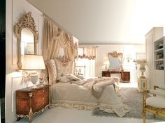 French Style Bedroom 1780 Marie Antoinette Style Hand Carved Our From Solid Wood