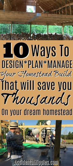The choices you make when you build your own home can break the bank. Find out our 10 biggest tips to save you thousands of dollars when you build a home yourself. #homesteading #buildahouse
