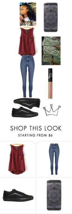 """henna ."" by qveenkyndall16 ❤ liked on Polyvore featuring River Island, Vans, Miss Me and NARS Cosmetics"