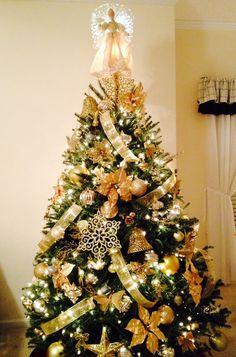My beautiful Golden Christmas Tree!