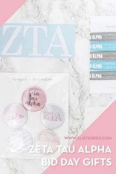 Create the perfect Bid Day gift pack for your Zeta Tau Alpha new members! Choose from three gift bag options: Newbie Love, Pref Present or Spoiled. Zeta Tau Alpha Gifts | Zeta Tau Alpha Bid Day | ZTA New Member Gifts | Zeta Rush Gift Bags | Zeta Tau Alpha Recruitment | Sorority Bid Day | Sorority Recruitment | Bid Day Bags | Sorority New Member Gift Ideas #BidDayGifts #SororityRecruitment Sorority Bid Day, Sorority Recruitment, Bid Day Gifts, Big Little Reveal, Zeta Tau Alpha, Day Bag, Gift Bags, Goody Bags, Treat Bags