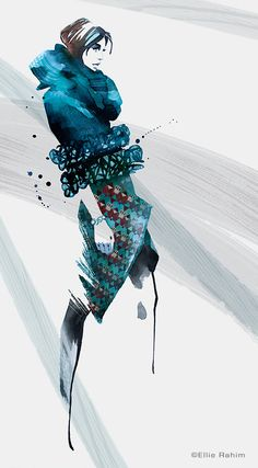 Fashion Illustration by Ellie Rahim http://www.gngmagazine.co.uk/ellie-rahim-illustrations/