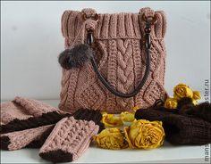 Комплект `Пепельная роза`. Утонченный, элегантный комплект выдержанный в нежной, розово-пепельной гамме.  Добавление тёмно шоколадного оттенка придаёт контрастность и стиль.  Замечательно будет сочетаться с разными вариантами одежды!