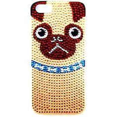skinnydip  iPhone 5 5S Bling Pug Case   かわいい  iphone5 iphone5s ケース カバー ロンドン の おしゃれ パグ携帯  iphoneパグ パグ