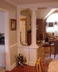 Wall Trim wall column Custom Home Finish Living Room