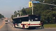 TTC bus runs red light, nearly hits person http://www.ctvnews.ca/video?clipId=404740&playlistId=1.1927395&binId=1.810401&playlistPageNum=1