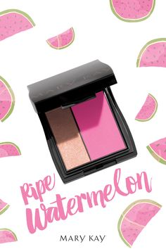 Bring on the BBQs, beach days, and pool parties. You'll be ready for summer fun with a sun kissed look with Mineral Cheek Color Duo in Ripe Watermelon! | Mary Kay Visit: www.marykay.com/rachel.demone
