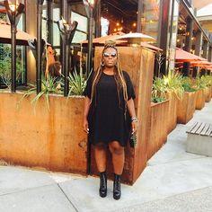 sweeterjuice-in-darkerberries:  Yesterday, you said tomorrow. Today love. #quote #ootd #wiwt #lookbook #instastyle #instafashion #fashiondiaries #seattle #darkskin #darkskinbaddiesdaily #melanin #blackgirlmagic #poetry #stevemadden #streetwear #woman #picoftheday #photooftheday #curvygirls by bluthebaqi https://instagram.com/p/6kaMRUjdyC/