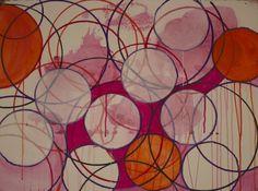 "Saatchi Online Artist: Linda Colletta; Acrylic, 2013, Painting ""Bubbling"""