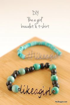 DIY Like a Girl bracelets made with Cricut Explore -- NoBiggie.net. #DesignSpaceStar Round 2