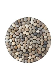 Design Ideas Round BeachStone Doormat, Riverbed Brown by Design Ideas. $50.75. Do not expose your Beach Stone to excessive heat. Add creative, unique décor to your home. Each Beach Stone piece is created by hand using river rocks that are washed and polished before affixing to plastic netting. Design Ideas Beach Stone Doormat-Rnd-RvrBdBn