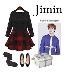"""""""Christmas with JIMIN"""" by effie-james ❤ liked on Polyvore featuring art, simple, kpop, korean, bts and jimin"""