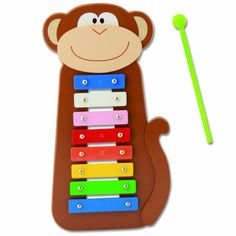 Introduce the joy of music to your little maestro with the Stephen Joseph Monkey Xylophone. Colorful music notes make up the center of this friendly monkey character, teaching your child the skill of hand-eye coordination while they jam to their own beat. Music Lessons For Kids, Drum Lessons, Piano Lessons, Toddler Toys, Kids Toys, Baby Toys, Song Sheet, Music And Movement, Baby Games