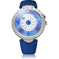 Christophe Claret Marguerite Sapphire and Diamonds White Gold Sapphire Jewelry, Diamond Jewelry, Unusual Watches, Latest Watches, Watch Model, Chronograph, White Gold, Bling, Art