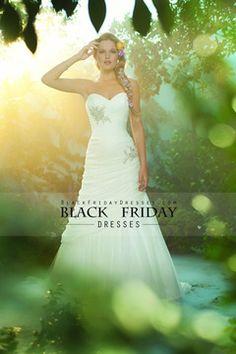 2014 Wedding Dress Sweetheart Sheath/Column Ruffled Bodice With Beads Chiffon USD 219.99 BFP8HMT9TF - BlackFridayDresses.com for mobile