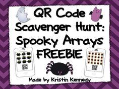FREE Halloween QR Code Scavenger Hunt: Spooky Arrays