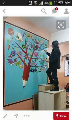 152 best school entrance images in 2019 School Displays, Classroom Displays, Classroom Decor, Classe D'art, School Entrance, Classroom Board, Bulletin Board, School Murals, Board Decoration