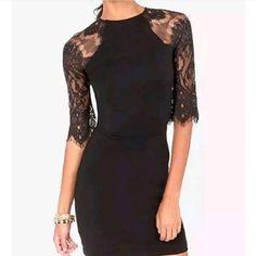 Elegant & Sexy Lace 3/4 Sleeve & Back Dress