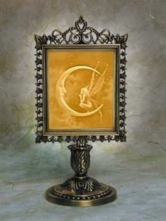 Fairy Moon (David Delamare design) Lithophane Victorian Stand Antique Brass *** See this great product.