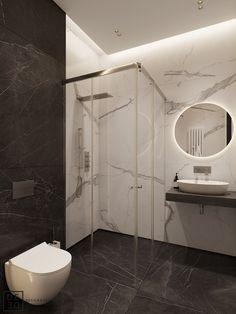 This modern four roomed apartment is located in the most prestige area of Saint-Petersburg on Krestovskiy island. Small Bathroom With Shower, White Bathroom Tiles, Master Bathroom, Casa Loft, Bathroom Design Luxury, Bathroom Pictures, Decoration, House Styles, Saint Petersburg