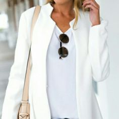 "Cutout Open Front Blazer Chic blazer is perfect for any occasion and has endless styling options. Length 26"" Bust 36 1/4"" Sleeve 22 1/2"" Shoulder 16 3/4""  Material is Polyester Boutique Jackets & Coats Blazers"