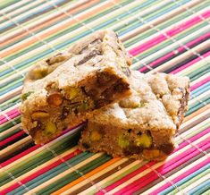 Spiced Pistachio Blondies