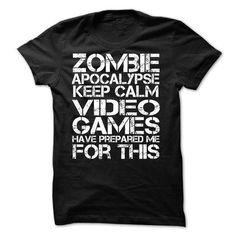 Zombie Apocalypse Gamers Keep Calm Funny T Shirts, Hoodie Sweatshirts
