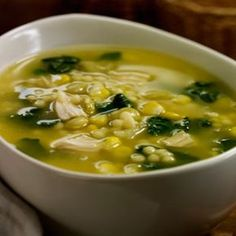 Chicken and spinach soup - Tesco Real Food Healthy Soup, Healthy Snacks, Healthy Eating, Healthy Recipes, Mexican Food Recipes, Soup Recipes, Cooking Recipes, Ethnic Recipes, Tesco Real Food