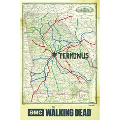 <div>TV fans will love this map showing the city of Terminus from the program, The Walking Dead....