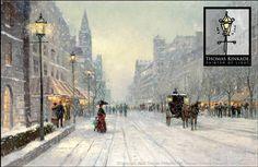 Winter's Dusk - Thomas Kinkade