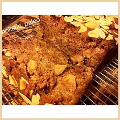 Delicious paleo, gluten and dairy free apple and cinnamon cake. I made this cake for myself this afternoon to have for dessert tonight while the rest of the family had birthday ice cream cake. It was fantastic. I left the skin on the apples which gave it