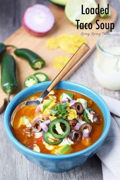 Loaded Taco Soup | paleo, Whole30, 21dsd, gluten-free & dairy-free! - Living Loving Paleo