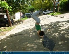 #Yoga Poses Around the World: Headstand taken in Buenos Aires, Argentina by Agus A.