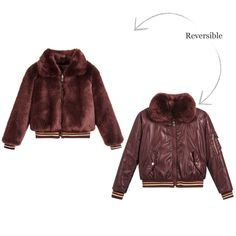 7d38cfcd7819 Reversible Fur Bomber Jacket for Girl by Mayoral. Discover more beautiful  designer Coats  amp