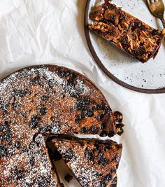 Quick and Easy Christmas Cake.  So simple and delicious!  Free from gluten, grains, dairy, eggs and refined sugar.  Enjoy!
