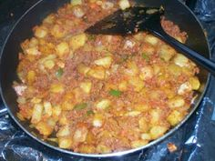 Papas Con Chorizo (Mexican Potatoes and Sausage)