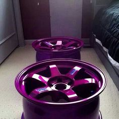 Everything better in purple Rims For Cars, Rims And Tires, Purple Love, All Things Purple, Car Head, Japanese Domestic Market, Aftermarket Wheels, Honda S, Car Tuning