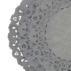 STEEL-GRAY-PAPER-Lace-DOILIES-4-6-8-10-Medium-Grey-Color-Doilies