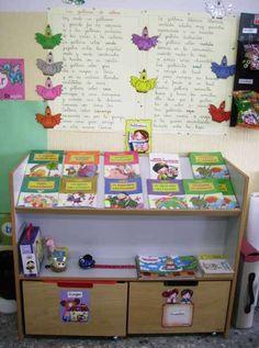 mueble para biblioteca de aula