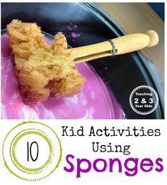Teaching 2 and 3 Year Olds: Kid Activities: Fun with Sponges!