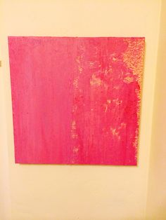 """Shawn Delaney painting """"Pinky"""" 20x20 acrylic on canvas."""