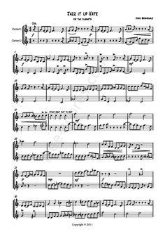 Free sheet music : Groenewald, Karin - Jazz it up Kate Clarinets (Duet)) Download Sheet Music, Free Sheet Music, Clarinet Sheet Music, Saxophone, Clarinets, Jazz, Songs, Entertainment, Clarinet