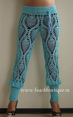 Roundup of beautiful #crochet trouser pants from crochet_stuff