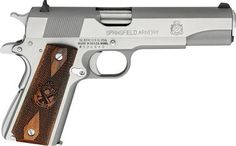Cabela's: Springfield Armory® 1911 Semiautomatic Pistols   Really like the look of the Mil-Spec .45 ACP...