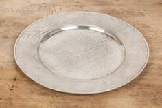 Match Pewter Faux Bois Plate
